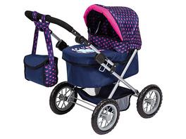 Puppenwagen Trendy, Elefanten Motiv, blau/pink von Bayer