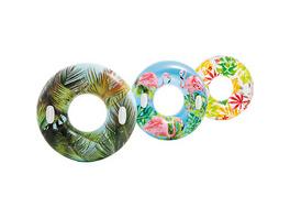 Schwimmring mit Blumen
