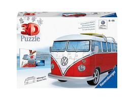 3D-Puzzle VW Bus T1, 30x14x15 cm, 162 Teile, Surfer Edition