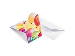 Einladungskarten inkl. Umschläge Ballons, 8 Stück