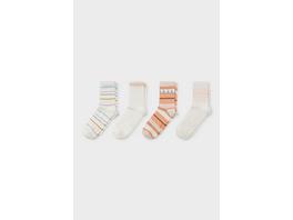 Socken - Bio Baumwolle - 4 Paar - gestreift