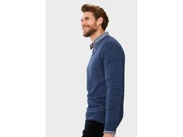 Feinstrick-Pullover und Hemd - Regular Fit - Kent - recycelt