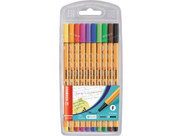 STABILO point 88 Fineliner 10er Etui Standardfarben